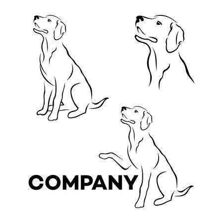 Illustration pour Dog breed Labrador icon - image libre de droit