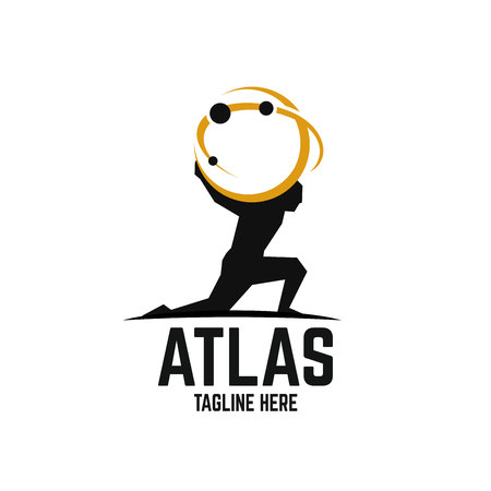 Illustration for Modern Atlas logo - Royalty Free Image