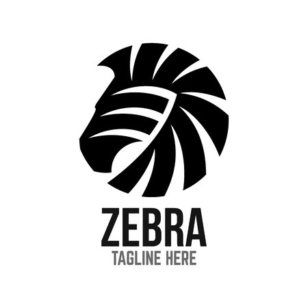 Illustration pour Example of modern logo zebra head - image libre de droit