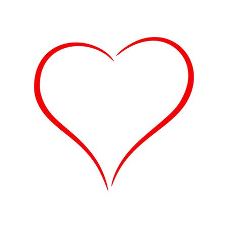 Illustration pour Red heart - image libre de droit