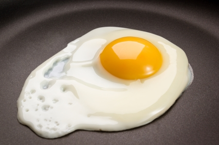 Photo for Fried egg on frying pan - Royalty Free Image