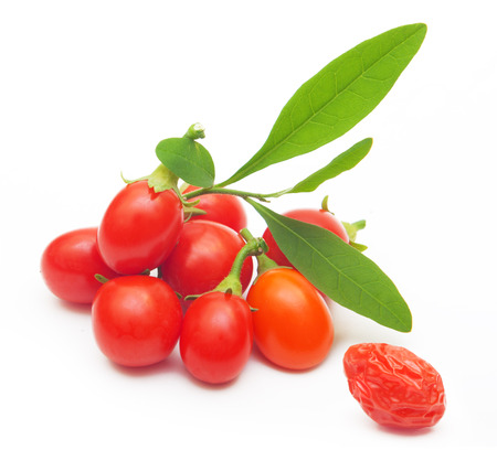 Photo for Goji berry isolated on white background. - Royalty Free Image