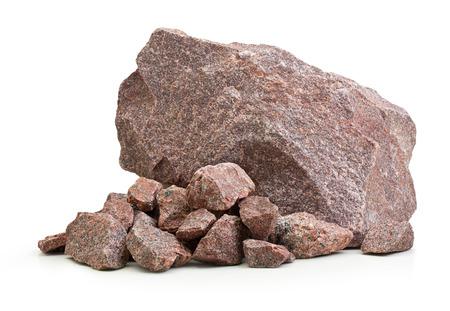 Foto de Granite stones,rocks isolated on white  - Imagen libre de derechos