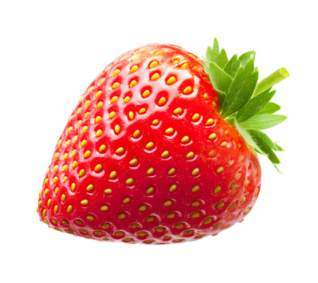 Photo for Strawberry macro isolated on white - Royalty Free Image