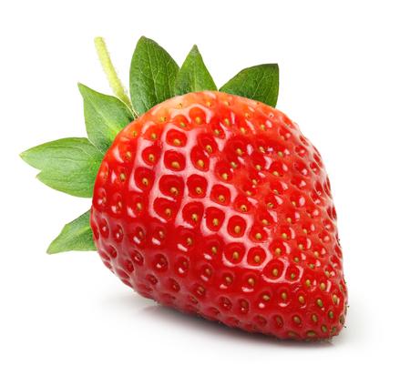 Foto de Strawberry isolated on white background - Imagen libre de derechos