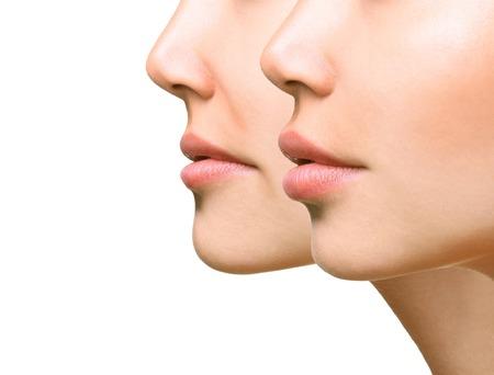 Photo pour Part of face, young woman close up. - image libre de droit