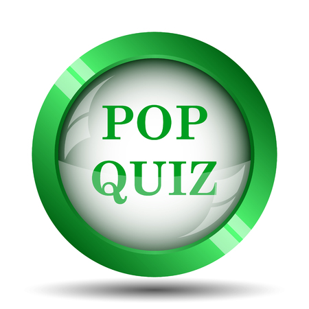 Photo for Pop quiz icon. Internet button on white background. - Royalty Free Image