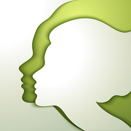 Ilustración de Profile of beautiful young woman - Imagen libre de derechos