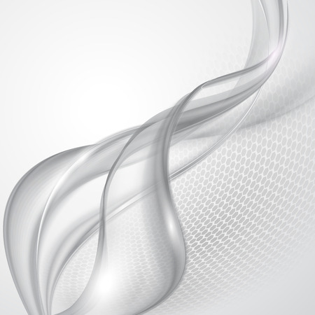 Illustration for Abstract gray wave background - Royalty Free Image