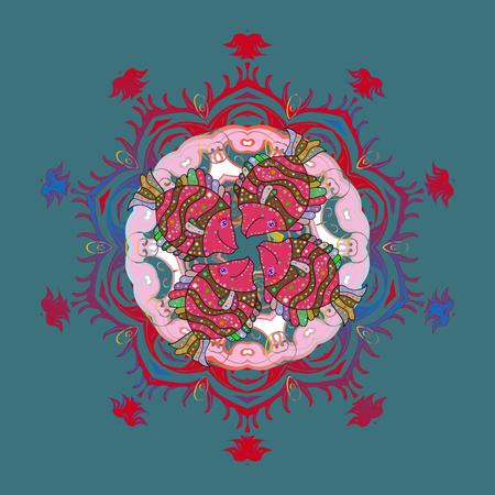 Illustration pour Colorful abstract pattern template design. - image libre de droit