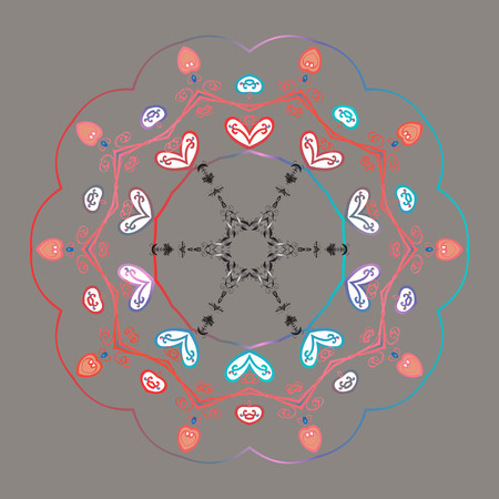 Illustration pour New year snowflake. Nice abstract snowflakes vector design. - image libre de droit