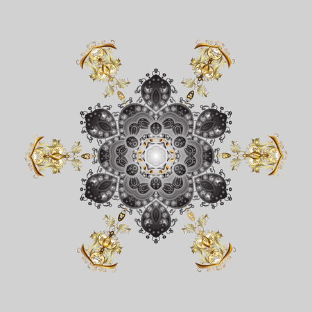 Illustration pour Abstract snowflake pattern design. - image libre de droit
