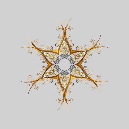 Illustration pour Abstract mandala or magical snowflake line art design. - image libre de droit