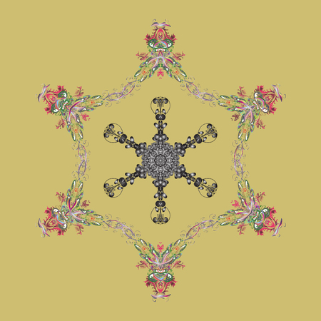 Illustration pour Vector illustration. Flat design. Vector winter snowflakes on colorful background. Snowflake icon, isolated. Vector snowflake icon. - image libre de droit
