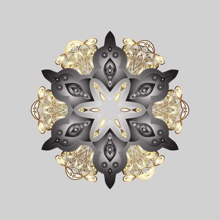 Illustration pour Vector illustration. Snowflake isolated on gray, brown and white colors. Snowflake Icon. Vector illustration. - image libre de droit