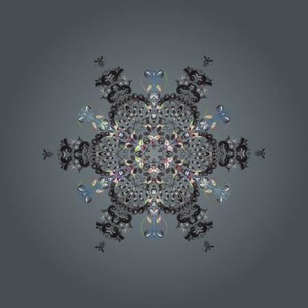 Illustration pour Fine winter ornament. - image libre de droit