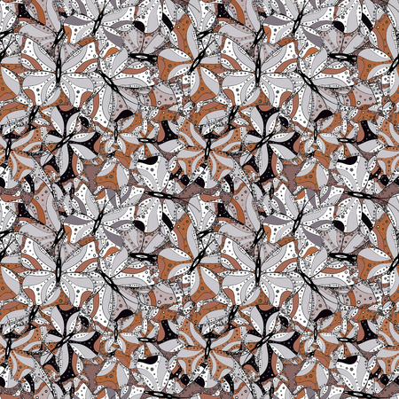 Illustration for Doodles cute pattern. It can be used on wallpaper, mug prints, baby apparels, wrapping boxes etc. Nice background. Vector - stock. White, black and gray on colors. Seamless Beautiful fabric pattern. - Royalty Free Image