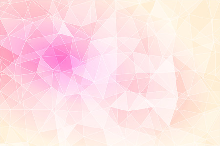 Illustration pour Abstract geometric pink background with triangular polygons, low poly style illustration - image libre de droit