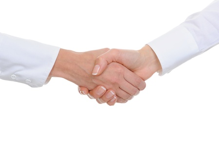 Handshake women  business partners