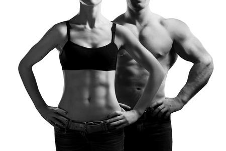 Foto de man and a woman in the gym - Imagen libre de derechos