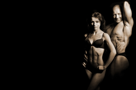 Photo for man and a woman in the gym - Royalty Free Image