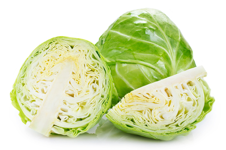 Photo pour fresh cabbage isolated on white background - image libre de droit