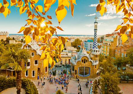 Foto de Park Guell in Barcelona, Spain (built in the years 1900 to 1914) - Imagen libre de derechos