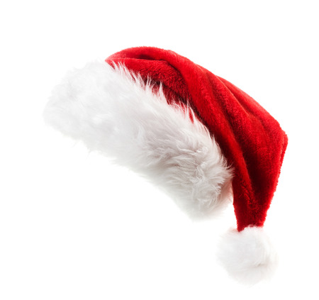 Foto de Santa Claus red hat isolated on white background - Imagen libre de derechos