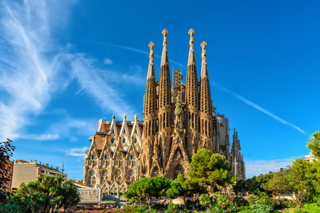 Foto de Cathedral of La Sagrada Familia. It is designed by architect Antonio Gaudi and is being build since 1882. - Imagen libre de derechos