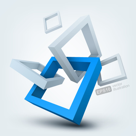 Illustration pour Vector illustration of 3d shapes - image libre de droit