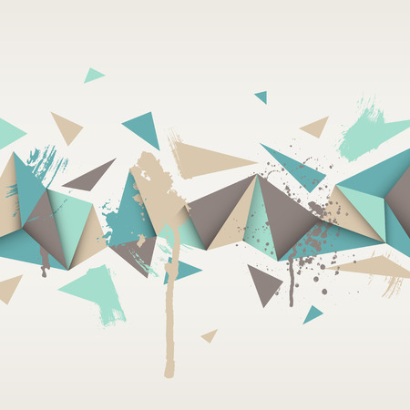 Illustration pour Vector background. Illustration of abstract texture with triangles. Pattern design for banner, poster, flyer. Hand drawn watercolor paint splash. - image libre de droit