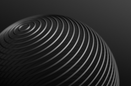 Photo pour Abstract 3d rendering of high tech metal structure. Dark background with chrome lines in empty space. Futuristic steel sphere. - image libre de droit