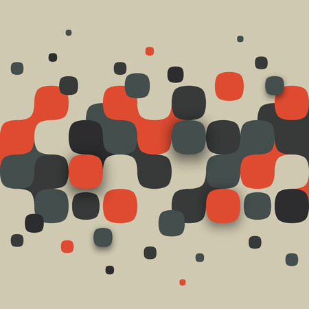 Illustration pour Vector background. Illustration of abstract texture with squares. Pattern design for banner, poster, flyer. - image libre de droit