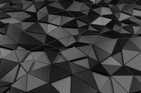Foto de Abstract 3d rendering of black surface. Background with futuristic polygonal shape. - Imagen libre de derechos