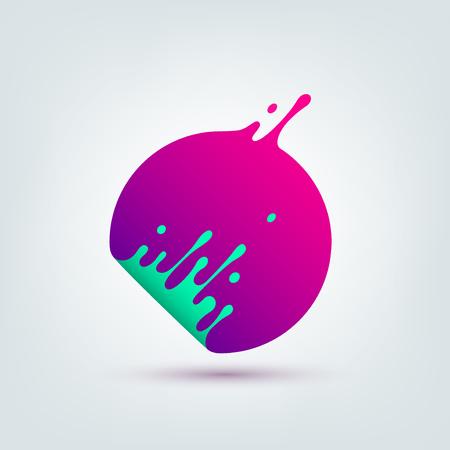 Photo pour Vector illustration. Abstract colorful circle. Dynamic splash liquid shape. Background for poster, cover, banner, placard. Logo design - image libre de droit