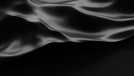 Foto de Abstract 3d rendering of smooth surface with ripples, cloth with waves, modern background design for poster, cover, branding, banner, placard - Imagen libre de derechos