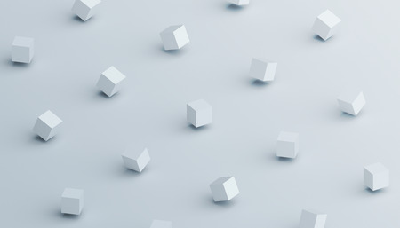 Foto de Abstract 3d rendering of geometric shapes. Computer generated minimalistic background with cubes. Modern design for poster, cover, branding, banner, placard - Imagen libre de derechos