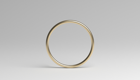 Photo for Abstract 3d rendering of a ring. Modern background with circle geometric shape. Minimalistic design for poster, cover, branding, banner, placard. - Royalty Free Image