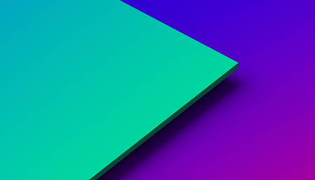 Foto de Abstract 3d rendering of a surface with gradient. Modern geometric background. Minimalistic design for poster, cover, branding, banner, placard. - Imagen libre de derechos
