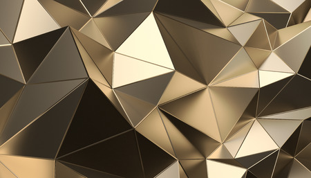 Photo for Abstract 3d rendering of triangulated surface. Modern background. Futuristic polygonal shape. Low poly minimalistic design for poster, cover, branding, banner, placard. - Royalty Free Image
