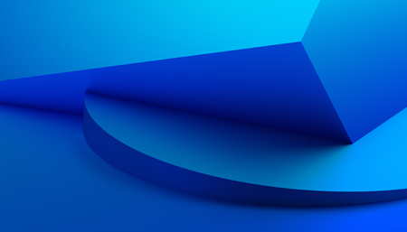 Photo pour Abstract 3d rendering of a modern geometric background. Minimalistic design for poster, cover, branding, banner, placard. - image libre de droit