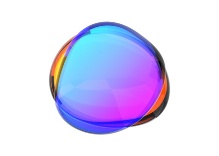 Photo for Abstract 3d render of colored bubble shape, modern background design - Royalty Free Image