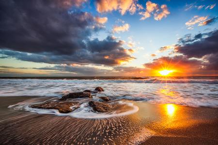 Photo for Beautiful cloudscape over the sea, sunrise shot - Royalty Free Image