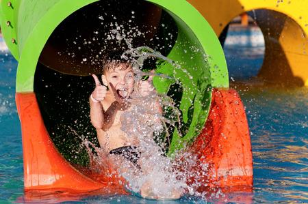Photo for Boy at aqua park - Royalty Free Image