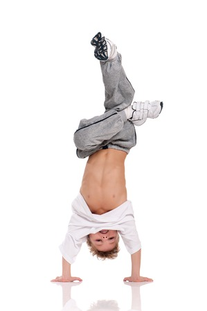 Photo pour Boy gymnastic - image libre de droit