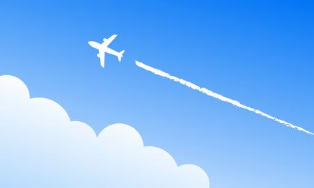 Illustration pour Airplane in the sky - image libre de droit