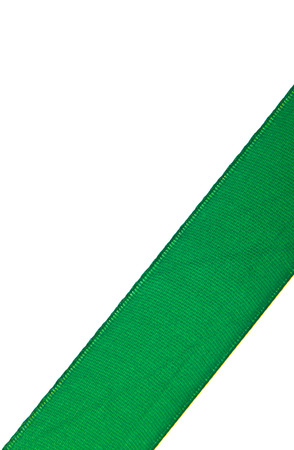 Photo for green ribbon isolated on white background - Royalty Free Image