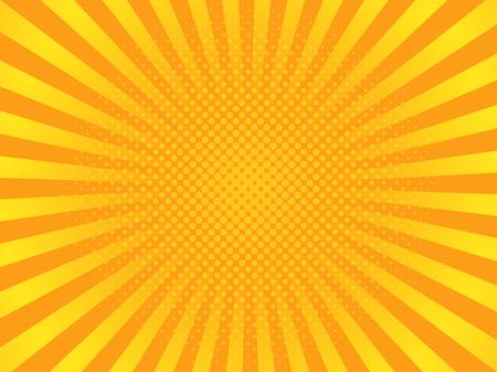 Ilustración de Pop art yellow rays image illustration - Imagen libre de derechos