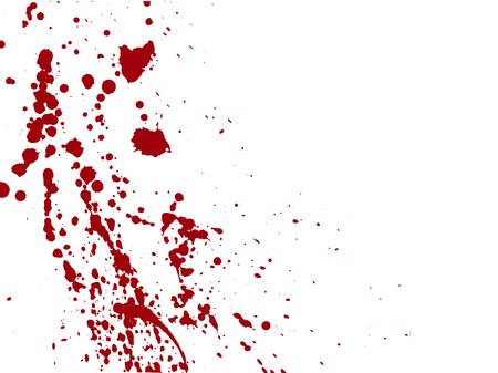 Ilustración de Blood drops and splatters on white background. - Imagen libre de derechos
