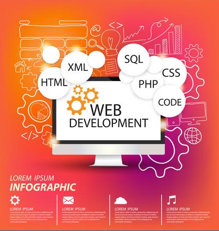 Ilustración de Web Development concept vector Illustration - Imagen libre de derechos